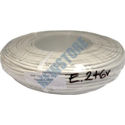 Erősített biztonságtechnikai kábel 2 x 0.5 + 6 x 0.22 réz 116703